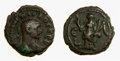 Ancient Coins - Roman Egypt, Alexandria. Probus (A.D. 276-282) Potin Tetradrachm (19 MM, 7.68 GM, 11 H) Dated Year 5, VF+