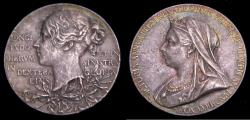 Ancient Coins - Queen Victoria Diamond Jubilee 1897 Sterling Medal by T. Brock Royal Mint 6335