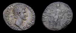 Ancient Coins - Nerva, AD 96-98, AR Denarius (18 mm, 2.79 gm., 7h), Rome mint, Struck AD 98, Good VF/aVF