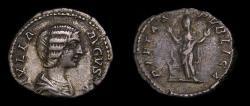 Ancient Coins - Julia Domna, Wife of Septimius Severus, Augusta, A.D. 193-217, AR denarius (18 mm, 3.86 g, 6h), Rome mint, struck A.D. 203 Good VF