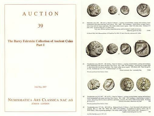 Ancient Coins - Numismatica Ars Classica (NAC) Auction 39 - May 16, 2007 - The Barry Feirstein Collection of Ancient Coins, Part I