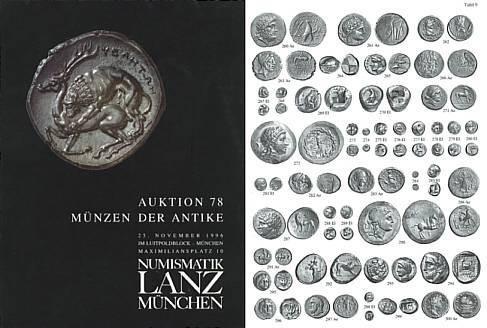 Ancient Coins - Numismatik Lanz Auktion 78 - Nov. 25, 1996 - Munzen der Antike - Lanz 78 Auction Catalogue - Greek, Roman and Byzantine Coins