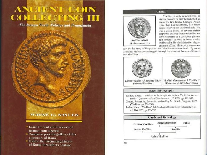 Ancient Coins - Ancient Coin Collecting III by Wayne G. Sayles - The Roman World - Politics and Propaganda - Autographed Copy