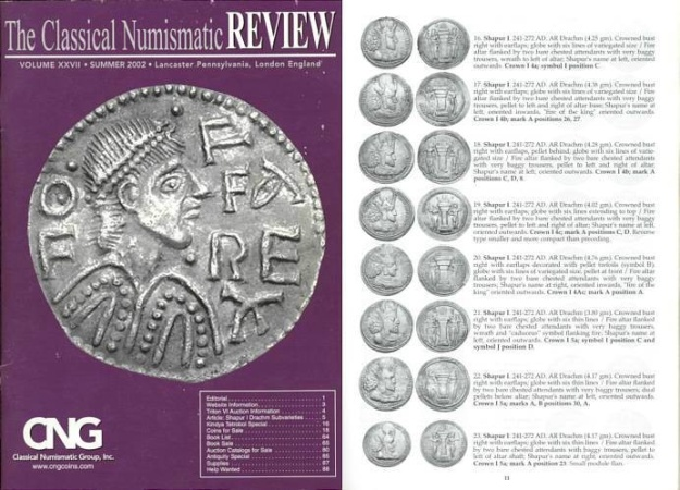 Ancient Coins - CNG - The Classical Numismatic Review - V. XXVII - Summer 2002