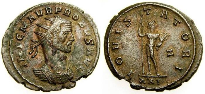 Ancient Coins - Probus, A.D. 276-282, Antoninianus (23 mm, 3.42 gm., 12h) First Emission, Rome Mint, Good VF Jupiter Scarce