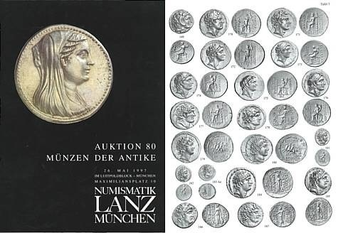 Ancient Coins - Numismatik Lanz Auktion 80 - May 26, 1997 - Munzen der Antike - Lanz 80 Auction Catalogue - Greek, Roman and Byzantine Coins