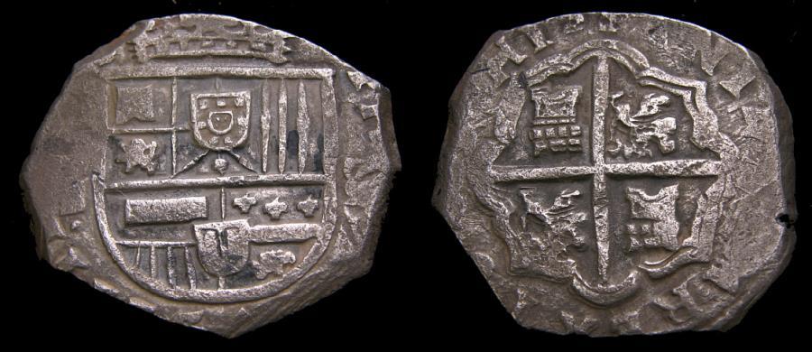 Spain Philip IV 1621 65 Silver Cob 8 Reales 2528 Gms Seville Mint