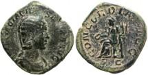 Ancient Coins - Otacilia Severa sestertius, AD 244-249. CONCORDIA AVGG, SC.