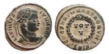 Ancient Coins - Licinius II AE follis. Siscia. 320 AD. VOT V. ΔSIS.