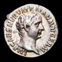 Ancient Coins - Trajan, (98-117 A.D.) Silver denarius. Rome, AD 101-102. P M TR P COS IIII P P Victory holding patera and palm.