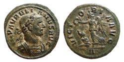 Ancient Coins - Aurelian bronze denarius. Rome, 270-275 AD. VICTORIA.AVG. A.