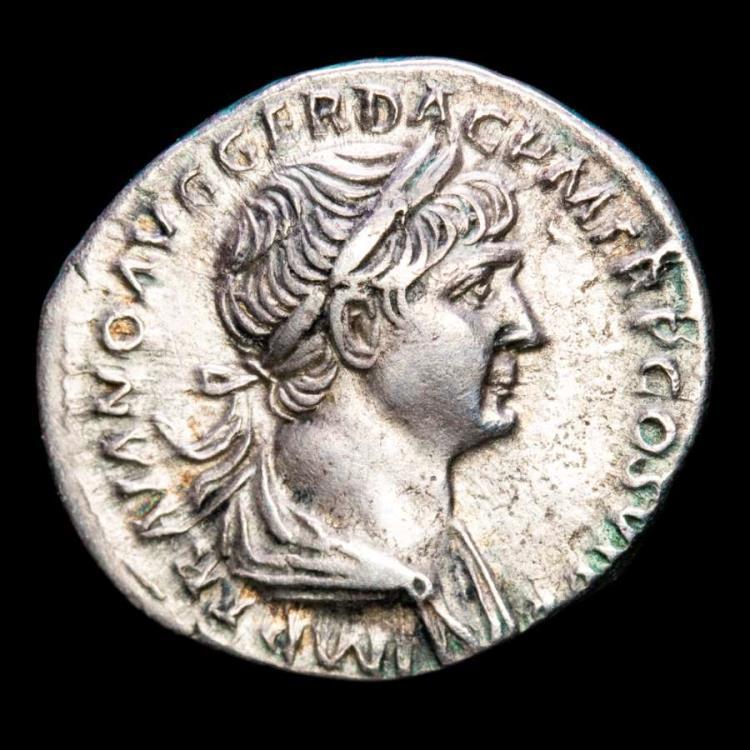 Ancient Coins - Trajan (98-117 A.D.) Silver denarius. Rome 112-117 A.D. - S P Q R OPTIMO PRINCIPI, Felicitas.