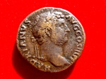 Ancient Coins - Roman Empire - Hadrian (117 - 138 A.D.), bronze sestertius ( 23,94 g. 29 mm) from Rome mint, 134-138 A.D. SALVS AVG. Rare.