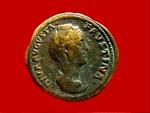 Ancient Coins - Roman Empire - DIVA FAVSTINA PIA (postumous issue after her death, 176 A.D.), bronze sestertius (21,87 g. 29 mm). Rome mint, AETERNITAS. S/C. RIC 1692.