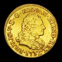 Ancient Coins - Spain - Felipe V (1700-1746), 2 escudos, gold. Minted in Madrid in 1732. Essayer JF.