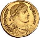 Jovian. Gold solidus, Antioch, AD 363-364. SECVRITAS REI PVBLICAE // ANTB Roma and Constantinopolis