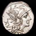 Ancient Coins - Roman Republic, L. Julius 141 BC. AR denarius. - Dioscuri galloping right, L IVLI below, ROMA