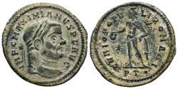 Ancient Coins - Maximianus large follis. Ticinum */PT·. GENIO POPVLI ROMANI