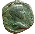 Ancient Coins - Roman Empire - Hostilian, as Caesar, (250-251 A.D.) bronze sestertius from Rome, 251 A.D. PRINCIPI IVVENT. Very rare!!!!!!!!!!