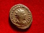 Ancient Coins - Valerian II caesar (256 - 258 A.D.) silver antoninianus ( 3,05 g, 23 mm), Antioch mint. 5th emission, A.D. 257-260. VICTORIA GERMAN. Victory.