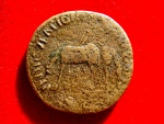 Ancient Coins - Roman Empire - Nerva (96 - 98 A.D.) orichalcum sestertius (24,18 g, 32 mm.) minted in Rome. 97 A.D. VEHICVLATIONE. Two donkeys. Extremely rare.