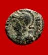 Ancient Coins - Roman empire - Hybrid Urbs Roma Constantinopolis half follis ( 1,17 g. 13 mm.). Alexandria mint. 337-340 A.D. Victory. Very rare. RIC VIII 11.