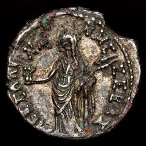 Ancient Coins - Egypt, Alexandria Claudius I (AD 41-54) Ar Tetradrachm. - MEΣΣAΛI-NA KAIΣ ΣEBAΣ, Messalina holding figures of two children