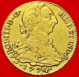 Spain-Charles III (1759-1788) 4 escudos gold coin, Madrid.1774-PJ