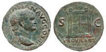 Ancient Coins - Vespasian Æ As. Rome, 71 AD. Ara. PROVIDENT.  RIC 494 var. Very rare.