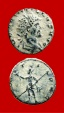 Ancient Coins - Quintillus (270 A.D.) bronze antoninianus (3,30 g. 18 mm.) Mediolanum mint. 270 A.D. MARTI PAC. Scarce