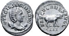 Ancient Coins - Otacilia Severa, Augusta, 244-249. Antoninianus. Rome, 248. SAECVLARES AVGG / IIII Hippopotamus