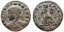 Ancient Coins -  Crispus with shield & spear follis. Rome P/R RT. ROMAE AETERNAE. Very rare!!!