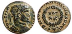 Ancient Coins - Constantine I AE follis. Ticinum. 307-337 AD. DN CONSTANTINVS MAX AVG, VOT.XX. PT.