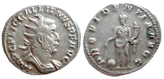 Ancient Coins - Gallienus AR antoninianus. 253-258 AD. PROVIDENTIA AVGG.