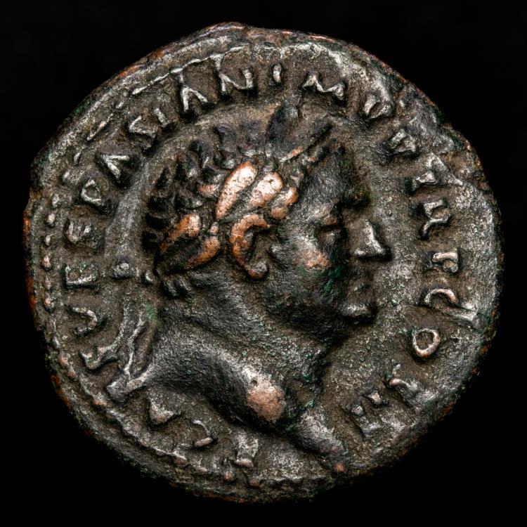 Vespasianus,69-79 AD Imp Caeser Victoria Navalis SC Vespasian Victory Standing