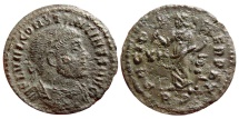 Ancient Coins - Constantine I AE half follis. Rome mint, 312-313 A.D.  PACI PERPET. XII / RS. RIC. 356. Rare and nice coin!