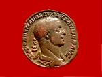 Ancient Coins - Roman Empire - Severus Alexander (222 - 235 A.D.), bronze sestertius (22,88 g, 30 mm) Rome 222-231 A.D. PAX AVGVSTI. S-C. Pax. RIC 592.