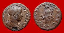 Ancient Coins - Roman Empire - Severus Alexander (222 - 235 A.D.), bronze as (10,10 g. 24 mm). 231 A.D. Rome mint. PROVIDENTIA AVG. Very rare. RIC 599.