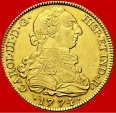 Spain - Charles III (1759-1788) 8 escudos gold coin, Madrid. 1774. Assayer P.J