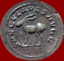 Ancient Coins - ROMAN EMPIRE - PHILIP I SILVER ANTONINIANUS MINTED IN ROME IN 248 A.D.  SPECIAL EMISSION. 6TH. OFFICINA. SECVLARES AVGG – ANTELOPE. RIC. 21; C. 189.