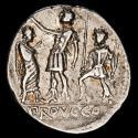 Ancient Coins - P. Porcius Laeca Denarius AR. 110-109 BC. Rome. - P • LÆCA / PROVOCO