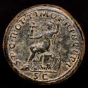 Ancient Coins - Trajan  (AD 98-117) Bronze Sestertius, Rome AD 108-110. S P Q R OPTIMO PRINCIPI, Roma seated to left on cuirass and shields.