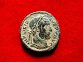 Ancient Coins - Licinius I (308-324 A.D.) bronze follis (3,22g. 18mm.) from Arles mint. 320-321 A.D. VO/TIS/XX. S A. Rare