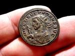 Ancient Coins - Probus (276-282 A.D), silvered antoninianus (4,08 g. 23 mm), Serdica (Sofia) mint, 277 A.D. SOLI INVICTO / KAA.
