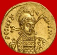 Byzantine Empire - Constantine IV Pogonatus (668 - 685 A.D.) gold Solidus (4,31 g. 19 mm.) from Constantinople mint, 681 - 685 A.D. VICTORA AVGYe. Rare, specially in this top quali