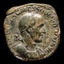 Ancient Coins - Trajan Decius (249-251 A.D.) Æ Sestertius. Rome, AD 249. - EXERCITVS INLVRICVS, Fides.