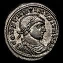 Ancient Coins - Constantine II, as Caesar, 317-337 A.D. Æ silvered Follis. Siscia. - VICT LAETAE PRINC PERP / ⦁A SIS⦁