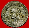 Ancient Coins - Roman Empire - Constantine I the Great (307-337 A.D.) bronze follis (3,35 g. 20 mm). Arles mint, 316 A.D. SOLI INVICTO COMITI. S/F. PARL. Bust to left. Extremely rare.