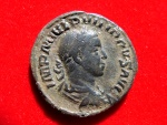 Ancient Coins - Roman Empire - Philip II (247-249 A.D.) bronze sestertius (14,05 grs.30 mm.) minted in Rome, 248 A.D. Philip I and II seated in curule chairs!!