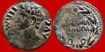 Ancient Coins -  Augustus (27 B.C. - 14 A.D.) bronze as (10,30 g. 25 mm.) minted in Colonia Patricia, ancient Baetica provincia in Hispania (actual Cordoba). COLONIA / PATRICIA